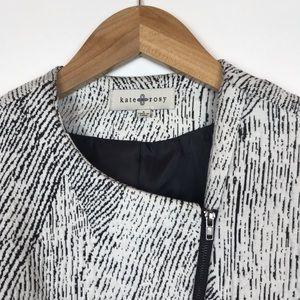 Anthropologie Jackets & Coats - Anthropologie Kate Rosy Black White Moto Jacket S